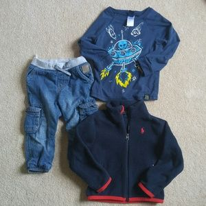 Lot of boy's clothes, size 2T